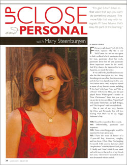 Mary Steenburgen - Up Close & Personal