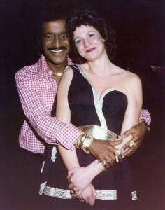 Sammy Davis Jr. and Marsala Rypka at Caesars Palace, Las Vegas.