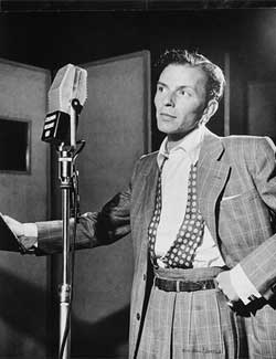 Frank Sinatra in the studio.