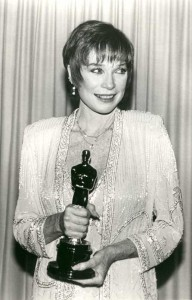 Shirley MacLaine and Oscar