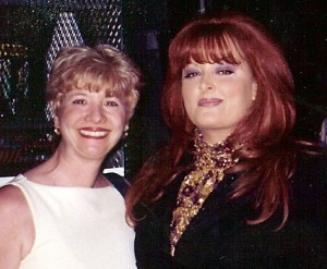 Marsala Rypka backstage with Wynonna Judd.
