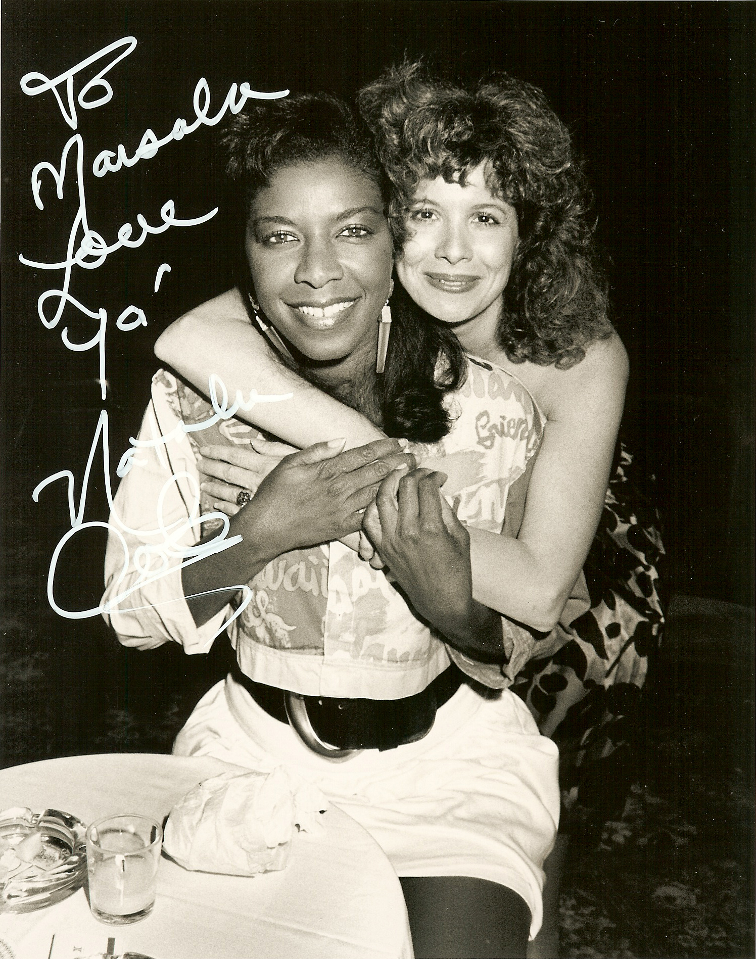 Natalie Cole with Marsala Rypka.