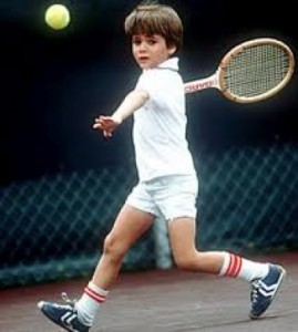 Andre started playing tennis professionally when he was 5 years old.