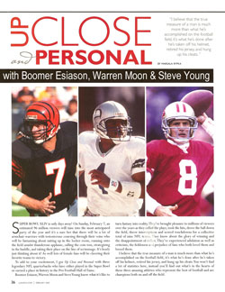 Boomer Esiason, Warren Moon & Steve Young - Up Close & Personal with Celebrity Scribe Marsala Rypka.