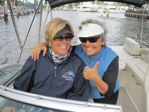 Suze and KT on boat
