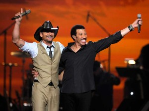 Tim McGraw and one of his idols Lionel Richie