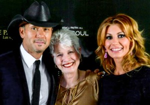 Tim McGraw, Faith Hill, and celebrity scribe Marsala Rypka